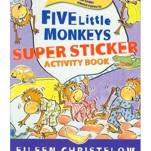 스티커북 Five Little Monkeys Super Sticker Activity Book
