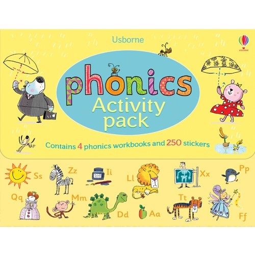 [어스본 Usborne] Phonics Activity Pack (워크북 4권, ...