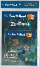[PAC]Fun to Read 2-31 Super Animals! [주토피아] (페이퍼백+CD)[Disney]
