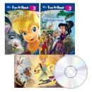 디즈니 Tinker Bell 팅커벨 Fun to Read 2종+Read Along 1종 Book&CD 세트