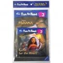 [PAC+WB] Disney Fun to Read Set 3-22 / Quest for the Heart (Moana 모아나) 워크북, CD 포함