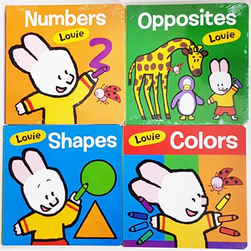 <span>[B]</span> Louie 보드북 4종(colors, shapes, Opp...